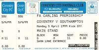 Ticket - Coventry City v Southampton 05.04.99