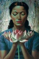 Vladimir Tretchikoff Water Lily Art reprint Size A4