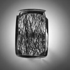 Ring, Gr. 62, Silber 925, mit Turmalinquarz, Cabochon aus Indien