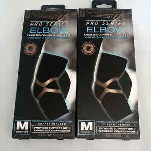 2 Copper Fit Pro Series Performance Compression Elbow Sleeve MediumFREE SHIPPING