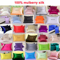 1pc 16Momme 100% Pure Mulberry Silk Pillow Cases Covers Pillowcases Zippered