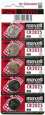 5 pcs Maxell CR2025 2025 3V cell coin button battery for calculator