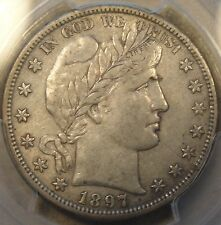 1897-S Barber Half Dollar PCGS XF45 There is a small Planchet Flaw at the top of