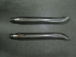Turn-Out Mufflers for Harley Davidson FL, Ugly but Solid, Rat Bike or Refinish