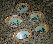Vintage Lusterware Hand Painted mini toy Dishes Tea Set Floral Oval Platters j98