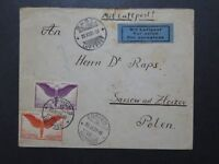 Switzerland SC# C11 & C12 On Cover to Poland / Small Top Tear - Z10055