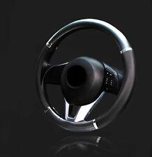 38cm Universal Car Auto Carbon fiber Leather Steering Wheel Cover Accessories