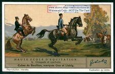 Croupade En Courbette Schooling Training Horses 1930s Trade Ad Card