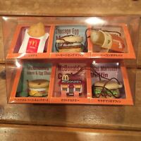McDonald's Food Strap Limited Edition Rare 6 pieces set USED F/S JAPAN