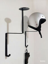 1x Motorcycle Helmet Holder, Fireman Hanger, Motorbike, Wall Mount Display Rack