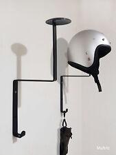 1x Motorcycle Helmet Holder, Fireman Hanger, Motorbike, Wall Mount Display Rack