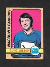 1972-73  OPC HOCKEY , # 18 , DUNC WILSON , VANCOUVER CANUCKS