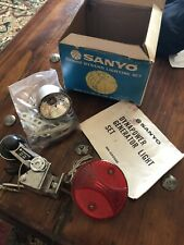 VINTAGE SANYO PUSHBIKE BICYCLE LIGHTS LAMPS New Old Stock Rare NOS national Bike