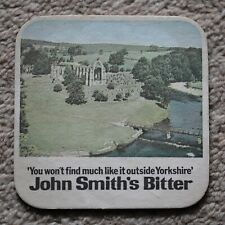 Vintage John Smith's Bitter Beer Mat Bolton Abbey / Tadcaster Brewery