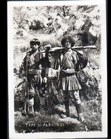 PHOTOGRAPHIE GUERRE / ALBANIE en 1918 / GUERRIER ALBANAIS avec ARMES