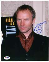 Sting Psa Dna Coa Hand Signed 8x10 Photo Autograph