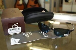 Serengeti Mens Polarized Nuvola 8129 Black Sport Sunglasses Silver NEW IN BOX