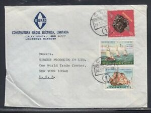 MOZAMBIQUE Commercial Cover Lourenço Marques to WTC 24-12-1973 Cancel