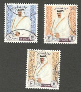 AOP Qatar #889-891 1995 Shaikh Hamad used 3v $42