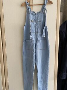 """Lucy And Yak Altas Size Small 32"""" Light Wash Denim Dungarees Rainbow Label"""