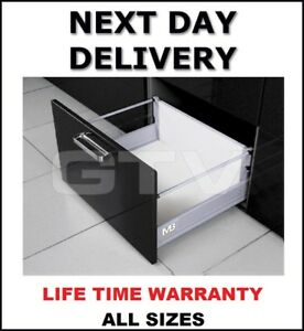 SOFT CLOSE DRAWER BOX LIKE BLUM  - HIGH -ALL SIZES 350-500 MM