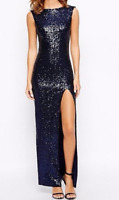 True Decadence Tall Sequin Maxi Dress With Front Split
