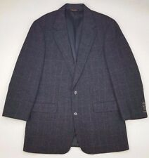 Brooks Brothers Camel Hair Blazer 40L Multicolor Two Button Mens Size Glen Plaid