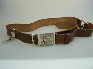 Vintage Girl Guides leather belt Walsall England