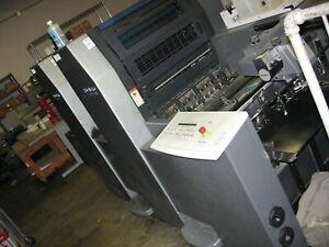 2003 Heidelberg SM52-2 2-clr press w/ auto plate, I/R dry & chill   ryobi komori