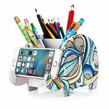 Elephant Pencil Holder With Phone Holder Desk Organizer Desktop Pen Pencil Mobil