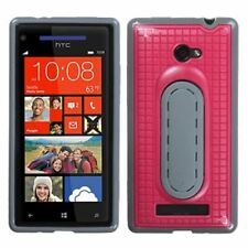 HTC Windows Phone 8X, Hot Pink Snap Tail Phone Case With Stand