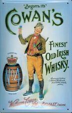 ADVERT COWENS WHISKY vintage tin style repro METAL SIGN