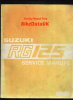 Suzuki RG125 Gamma MK1 (1986-1988) Genuine Factory Shop Manual NF12 RG 125 CK40
