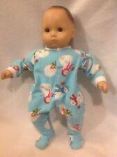 "Bitty Baby Snowman Christmas pj sleeper pajamas 15"" girl/boy doll clothes fit"