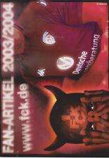 Official Merchandise Catalogue 1.FC Kaiserslautern 2003-2004