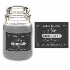 Personalised Christmas Special Couple Candle Label Gift