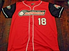 Battle Creek Bombers baseball jersey men's MEDIUM SGA #18 Northwoods League