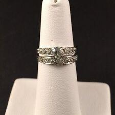 Vintage Engagement Ring with Diamond and Custom Platinum Wedding Band .78ctw