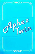 APHEX TWIN Cheetah 2016 Ltd Ed RARE Poster +FREE Electronica/Dance/EDM Poster!