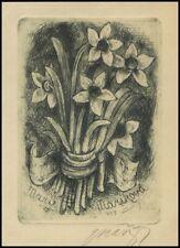 Marik Jaroslav Exlibris C3 Bookplate Flowers Blumen Kwiaty 1879