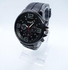 Vive Herren / Damen Xxl  Uhr Armbanduhr  Schwarz Grau Neu Top Silikon