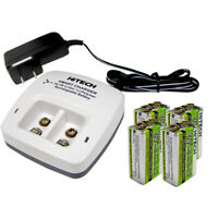 4pcs 9v Rechargeable LiPoly 720mAh(power NiMh 3 times)+ic-29V Charger*Up-30%OFF