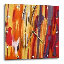 3dRose dpp_31078_3 Melting Fires Wall Clock, 15 by 15