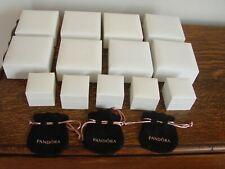 13 Pandora empty boxes 5 charm/ring & 8 bracelet 4 pouches superb condition