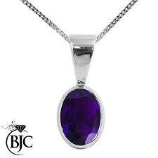 Sterling Silver Natural Fine Gemstone Necklaces & Pendants