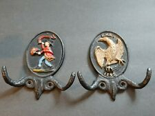2 Vintage Wall Coat Hook Cast Iorn