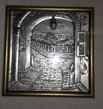 Quadretto vintage argento bassorilievo ALLIANI bas-relief in silver