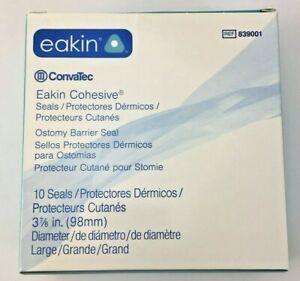 "10 Convatec 839001 Eakin Cohesive Seals Large 3-7/8"" FRESH!"