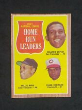 1962 Topps Willie Mays Orlando Cepeda Frank Robinson #54 NL Home Run Leaders