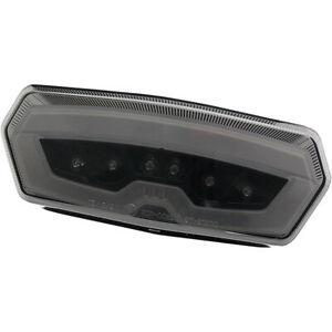 Moto MPH Integrated Turn Signal Taillights Clear (MPH-30127C)